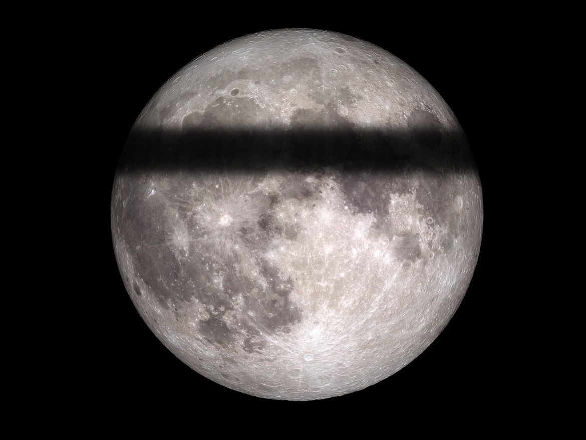 If the Earth were flat, we'd see this during a lunar eclipse. We never have, so…