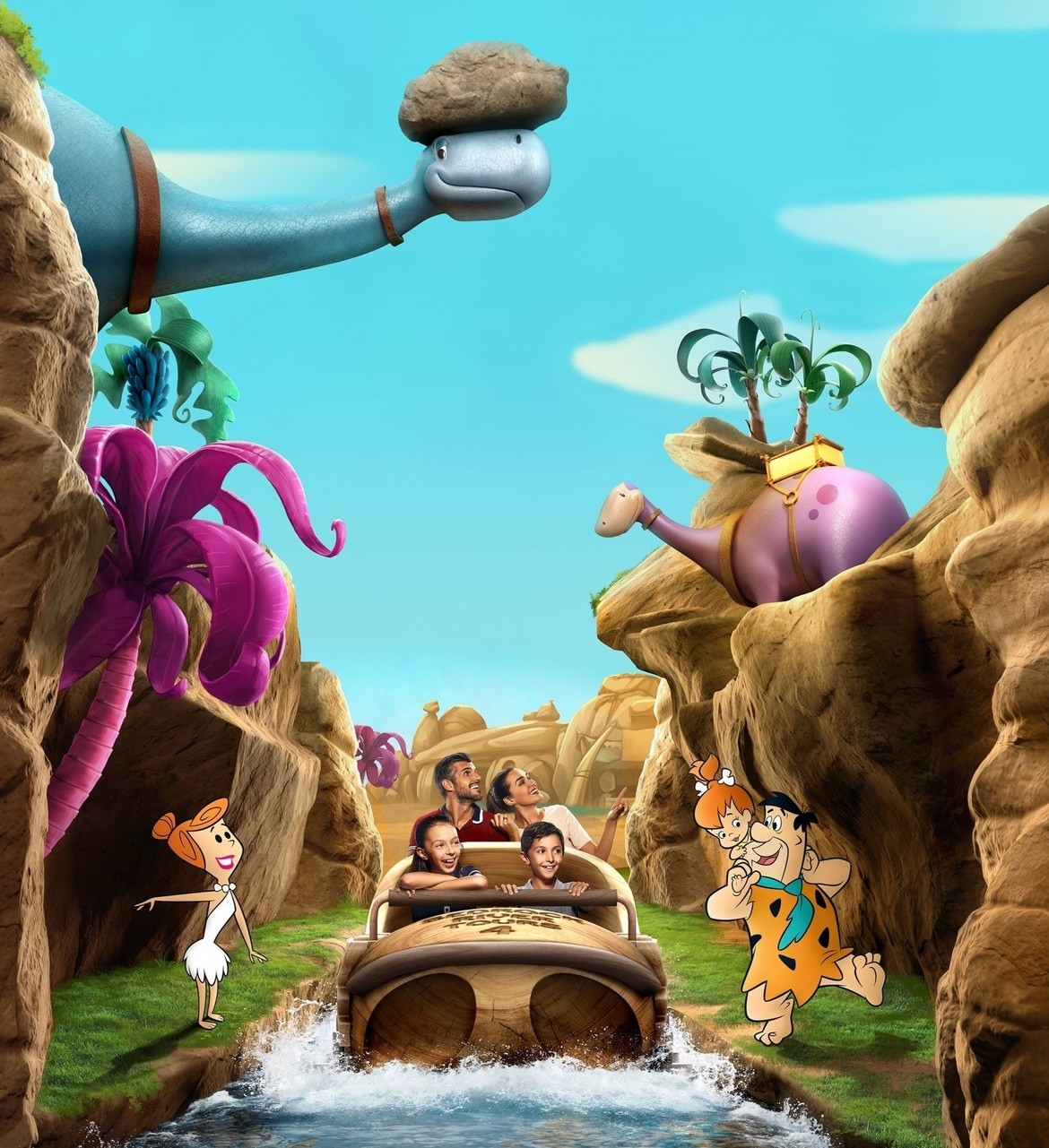 Flinstones bedrock River Adventure Warner Bros.