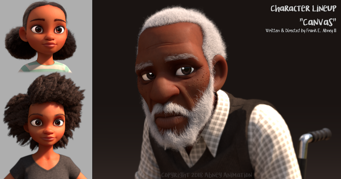 Frank E. Abney - Canvas Character Images