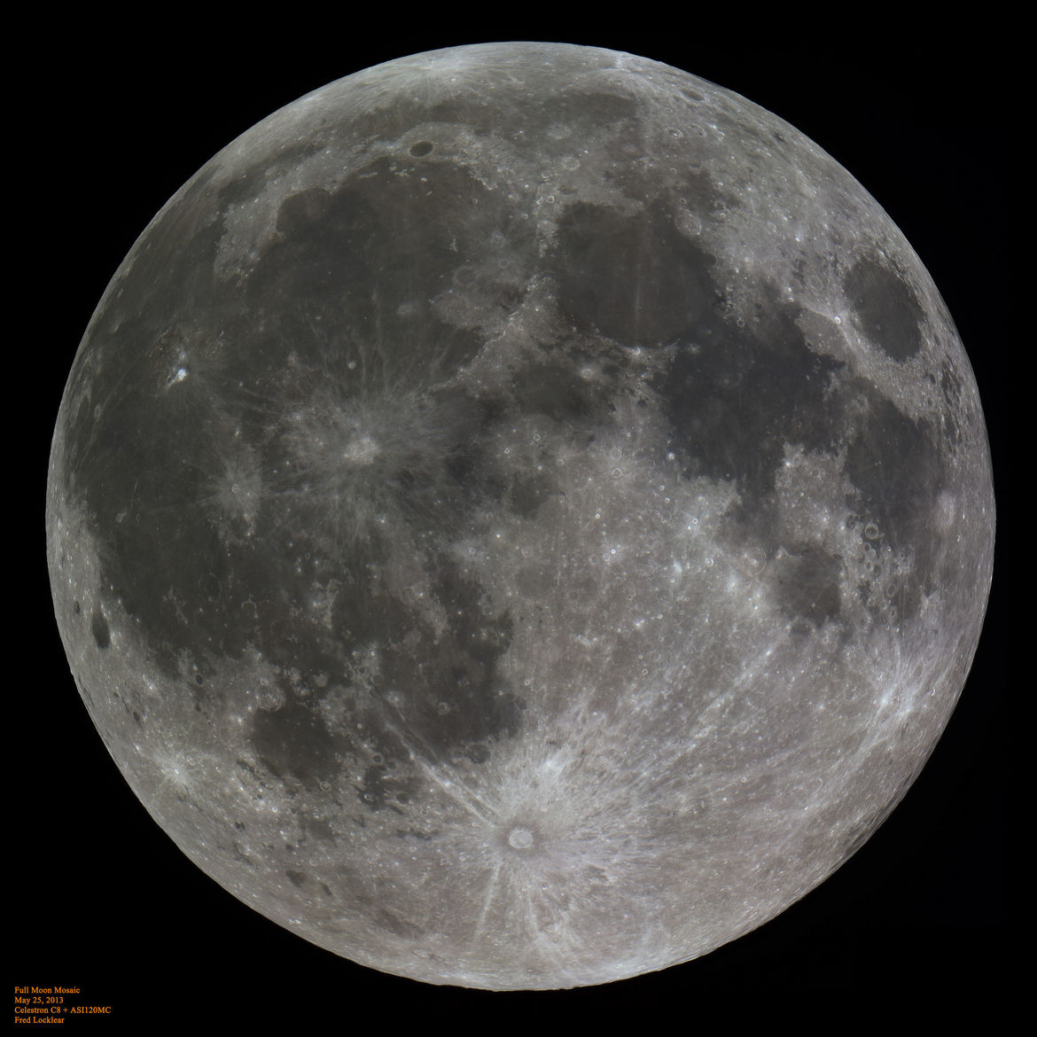 The full Moon, with Aristarchus crater standing out in the upper left. Credit: Fred Locklear