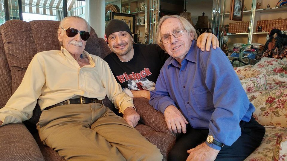 Stan Lee, John Cimino and Roy Thomas