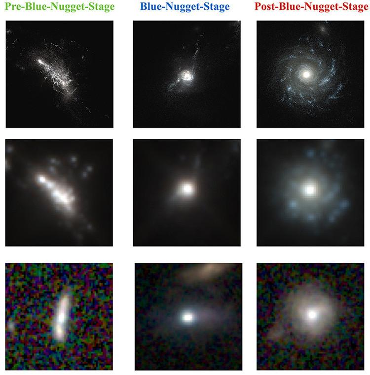 Images from UC Santa Cruz galaxy study