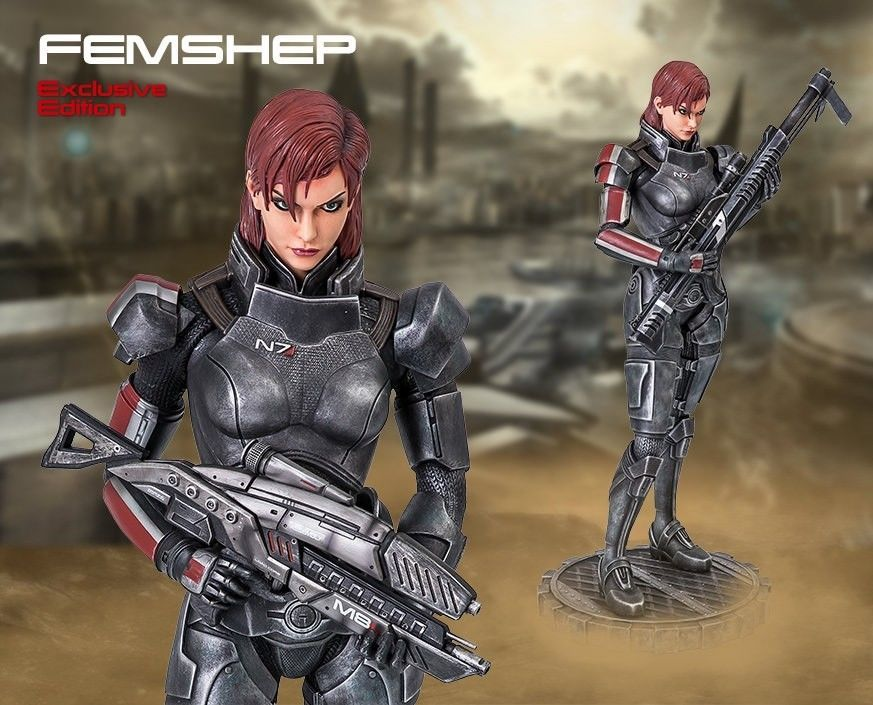gaming heads mass effect female shepard statue