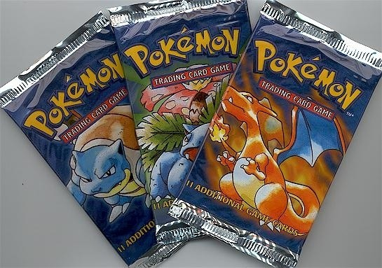Pokemon cards wrapped