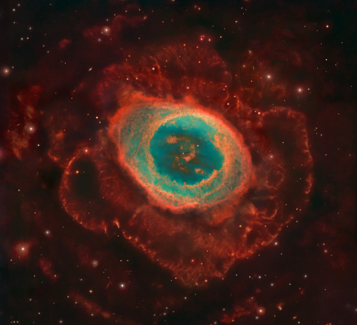 The glorious Ring Nebula, one of the finest examples of a dying star in the sky. Credit: NASA, ESA, and C. R. O'Dell (Vanderbilt University) and Robert Gendler