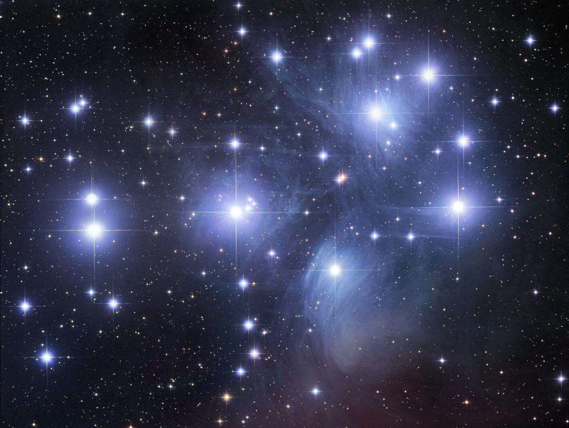 A gorgeous deep image of the Pleiades, a nearby cluster of stars. Credit: Robert Gendler
