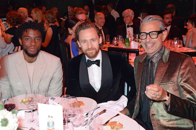 Chadwick Boseman, Tom Hiddleston and Jeff Goldblum