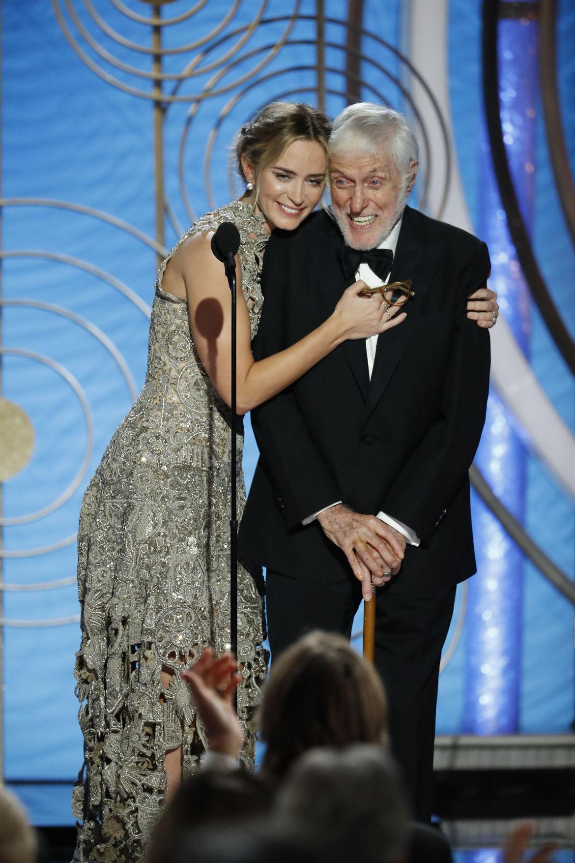 Emily Blunt Dick Van Dyke Mary Poppins Returns Golden Globes