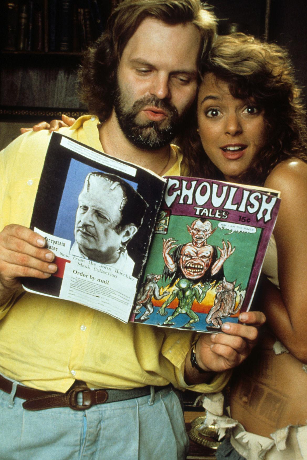 John Carl Buechler and Eva La Rue in Ghoulies III: Ghoulies Go To College