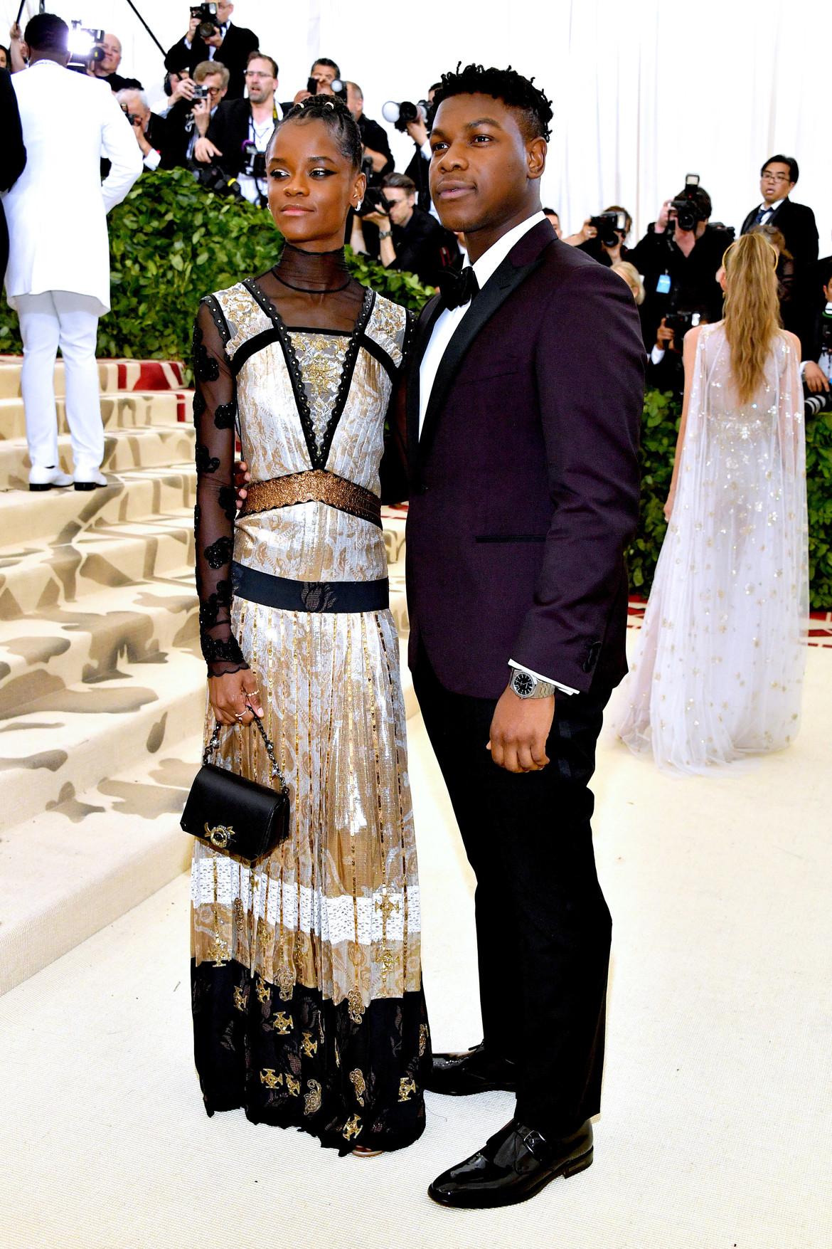 John Boyega and Letitia Wright