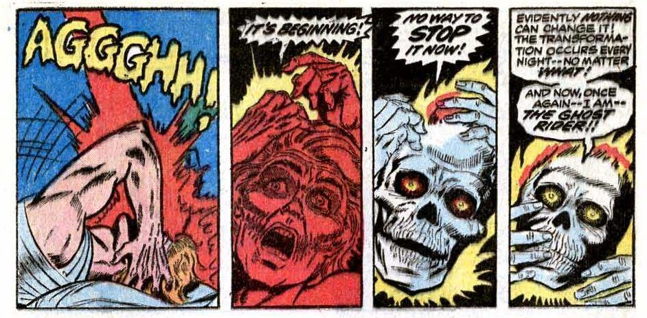 Ghost Rider #1 (Writer Gary Friedrich, Art by Tom Sutton, Edited by Roy Thomas)