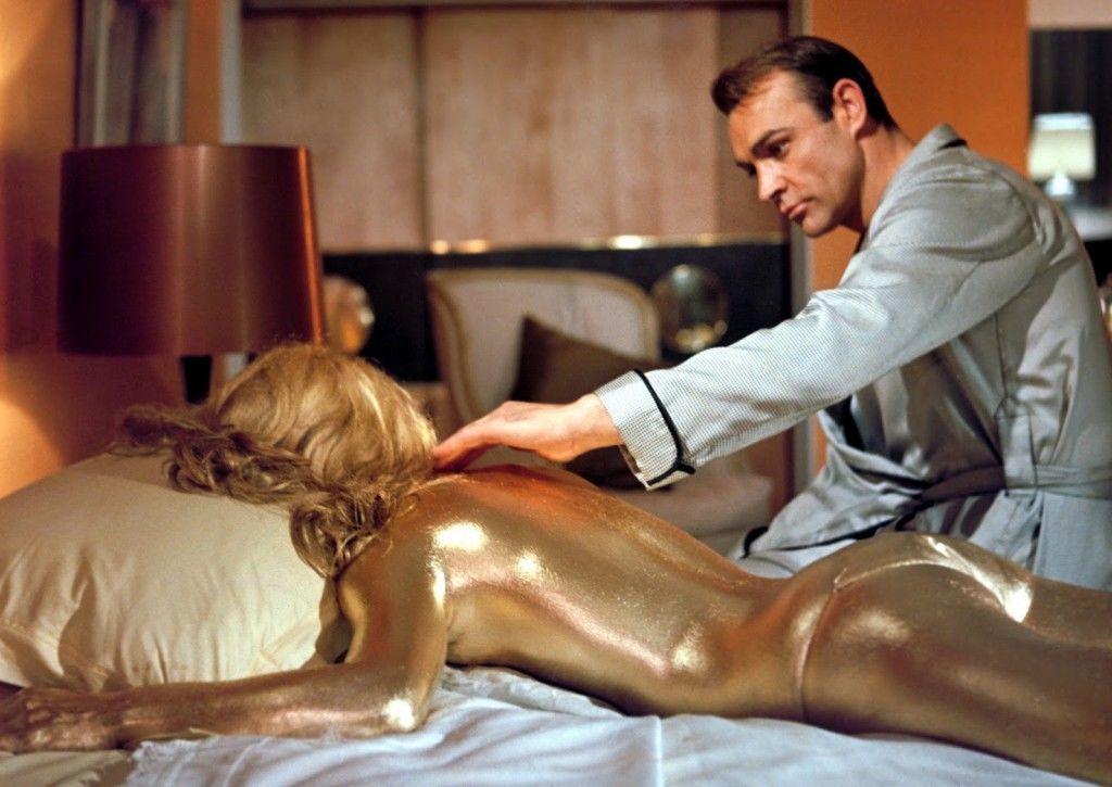 Goldfinger's golden Bond Girl.