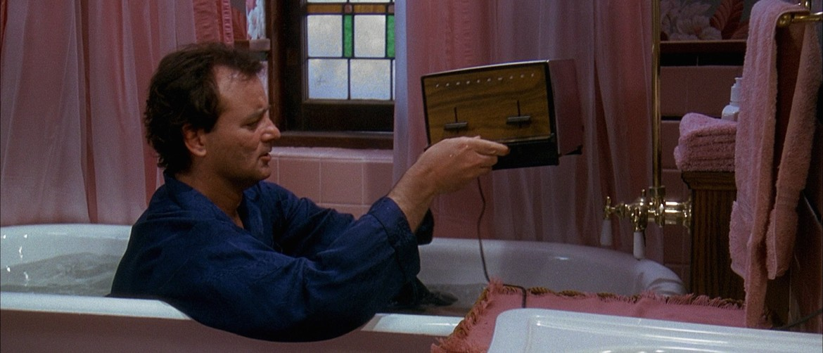 Groundhog Day Bill Murray toaster bath
