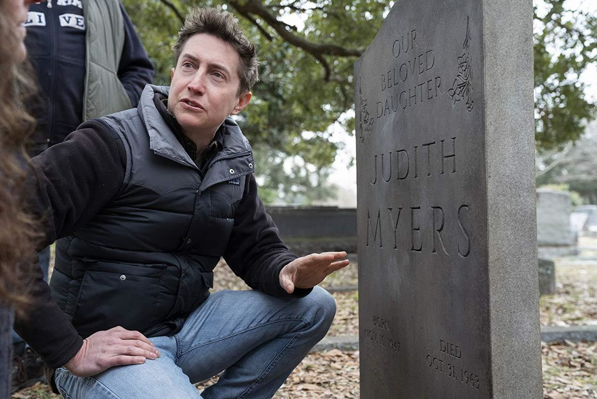Halloween David Gordon Green on set
