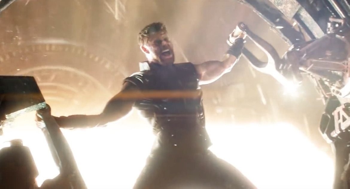 Avengers: Infinity War- Thor using a forge