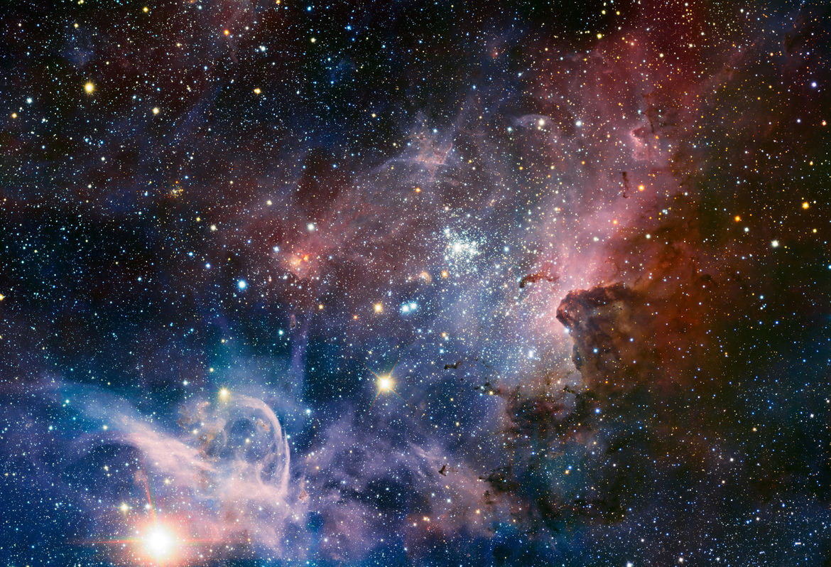 Part of the enormous Carina Nebula, imaged by the HAWK-I camera on the Very Large Telescope. Credit: ESO/T. Preibisch