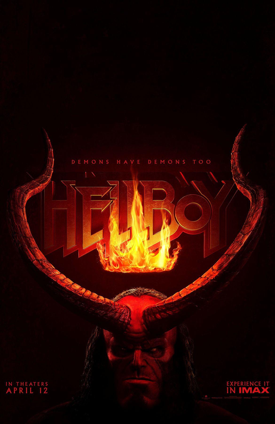 Hellboy reboot movie poster David Harbour