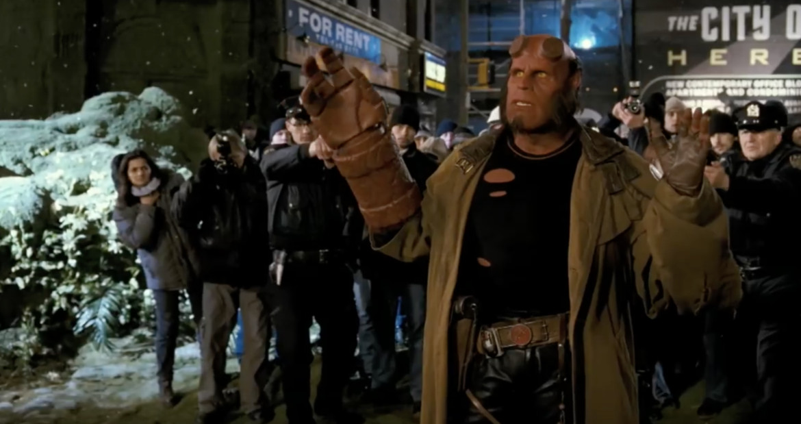 Hellboy II: The Golden Army- Hellboy on the defensive