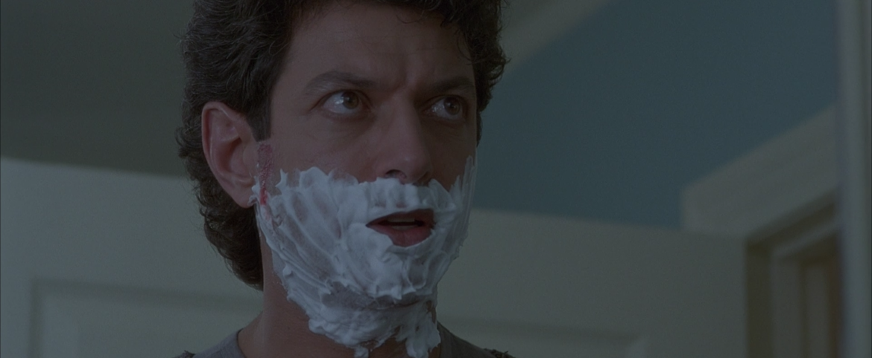 Hideaway Goldblum shaving