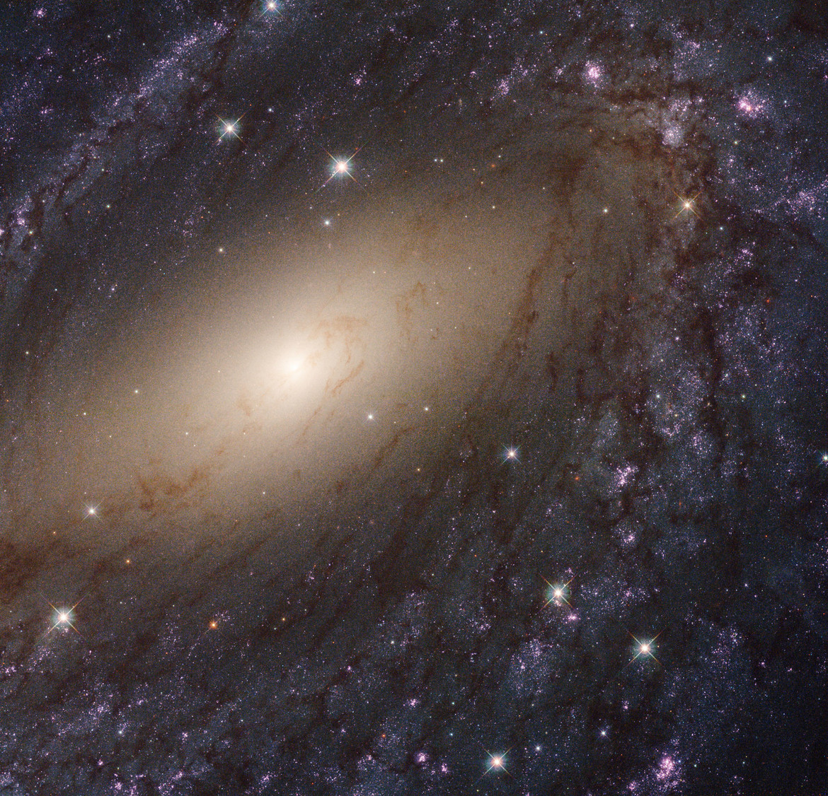 NGC 6744, a patchy spiral galaxy with lots of young, massive stars in it. Credit: NASA, ESA, and the LEGUS team