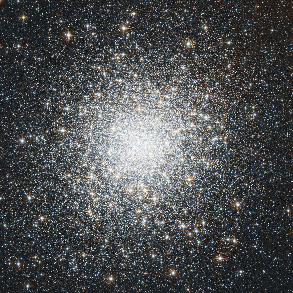 Hubble image of the globular cluster M2 using natural color filters. Credit: NASA, ESA, STScI and A. Sarajedini (University of Florida)