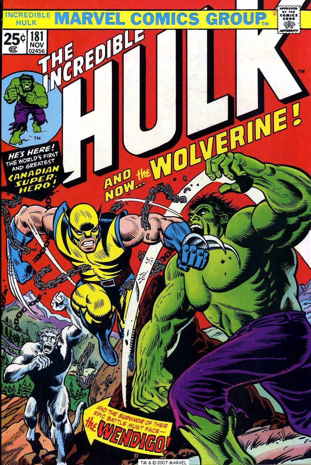 The Incredible Hulk #181 (Writer Len Wein, Art by Herb Trimpe, Editor Roy Thomas)