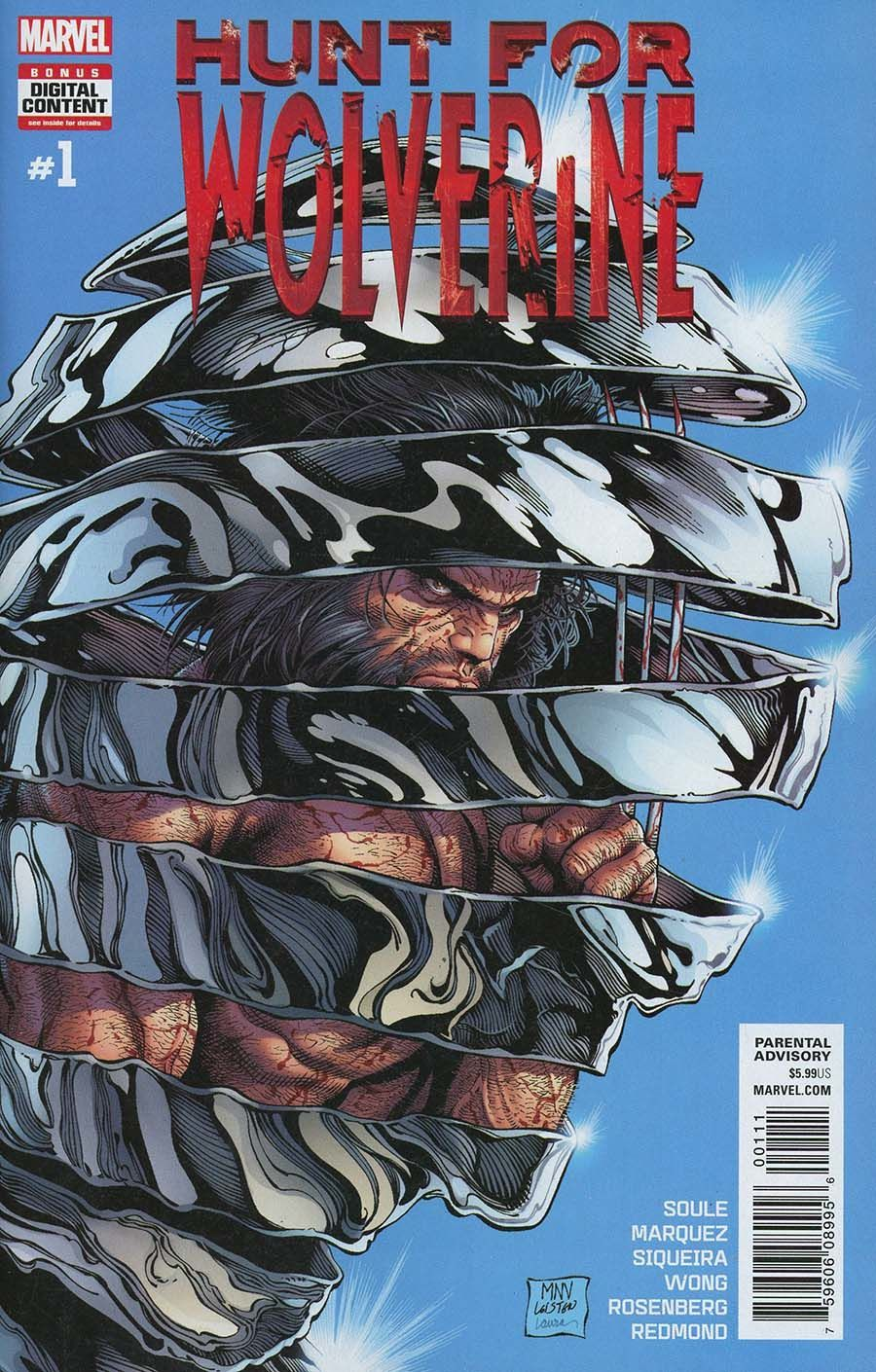 Hunt for Wolverine #1 (Writer Charles Soule, Cover Art by Steve McNiven)