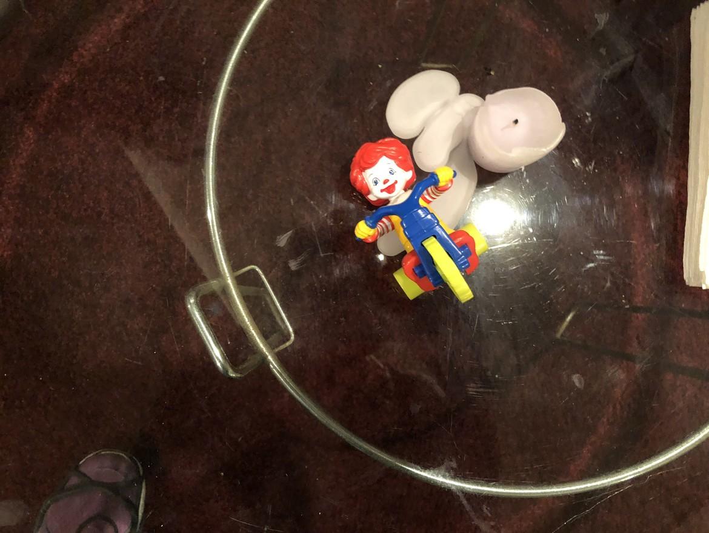 Ronald McDonald toy at the Oman house
