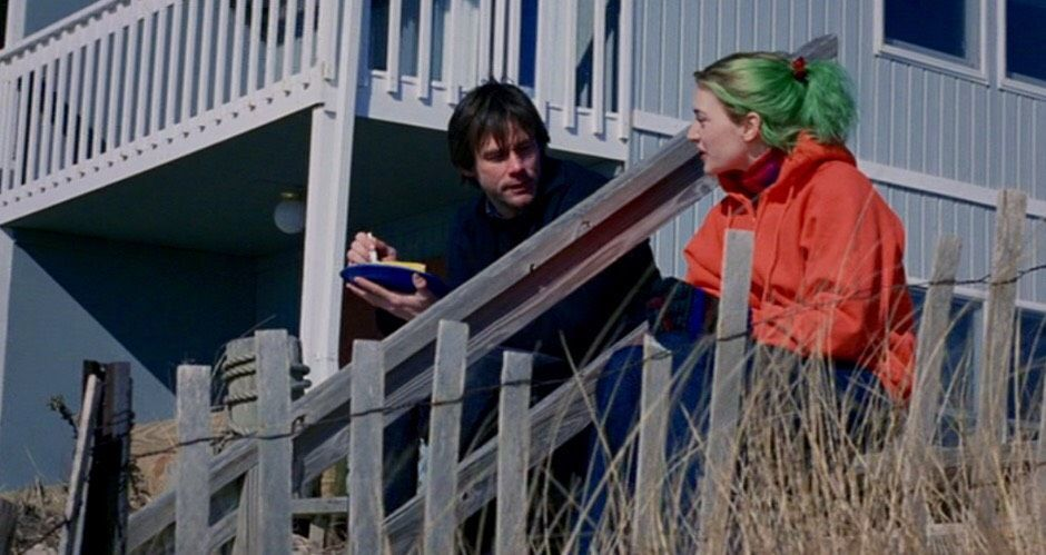 Orange Hoodies Colorful Hair And Memory In Eternal Sunshine