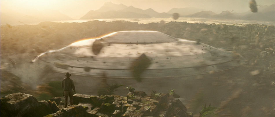 Indiana Jones and the Kingdom of the Crystal Skull- Indy and Alien Ship
