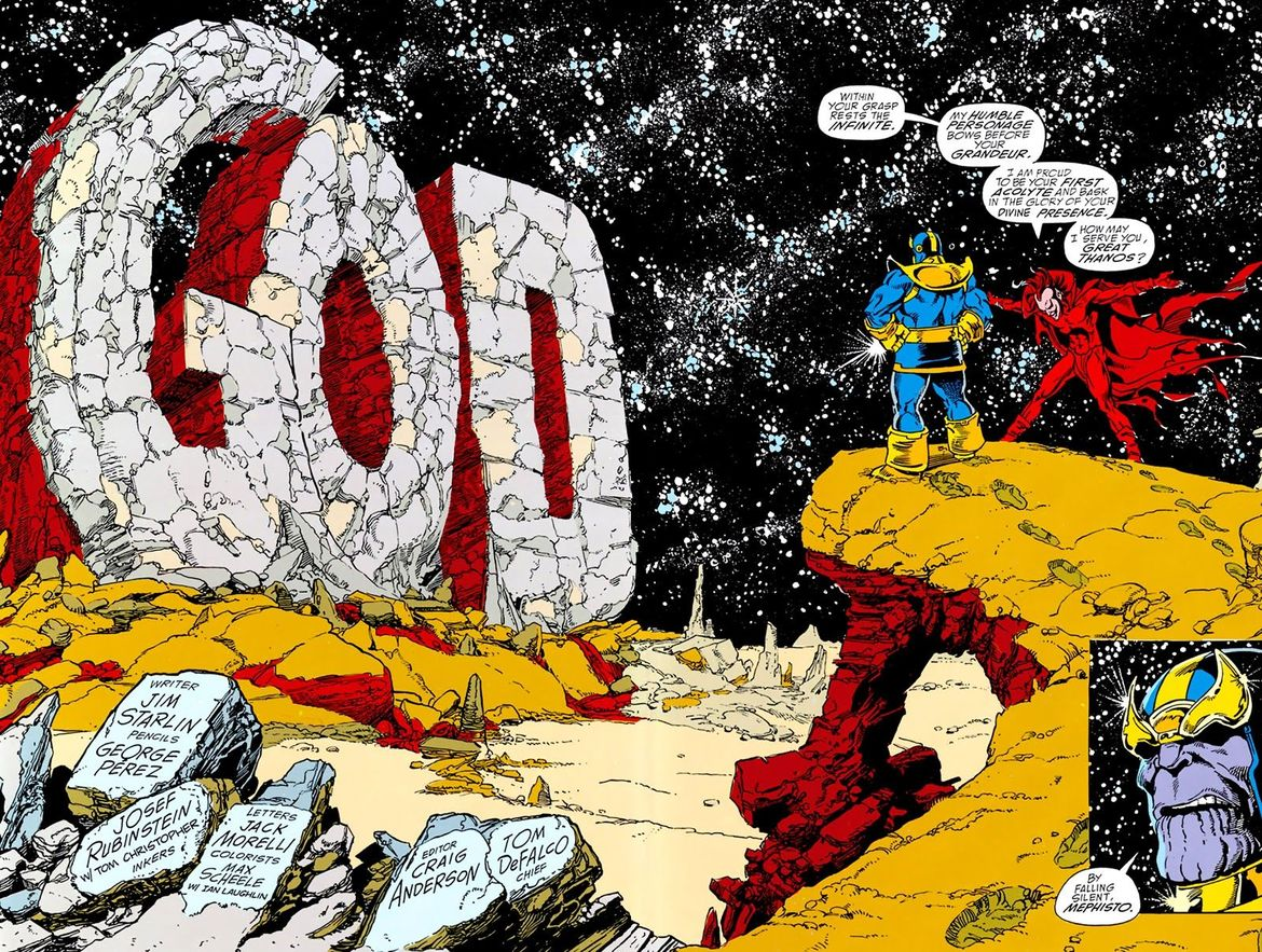 Infinity Gauntlet #1 (Written by Jim Starlin, Art by George Perez)
