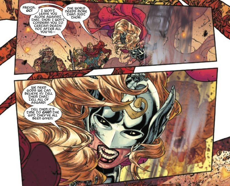 Thor 705 Interior Jane Foster speaks to Odin and Freya