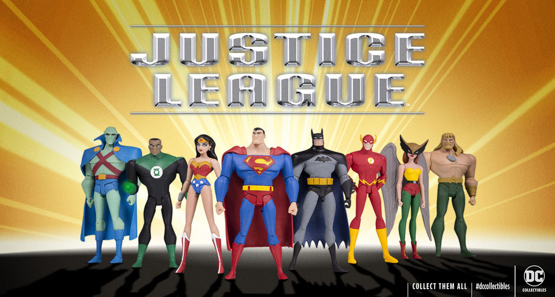 dc collectibles justice league figures promo