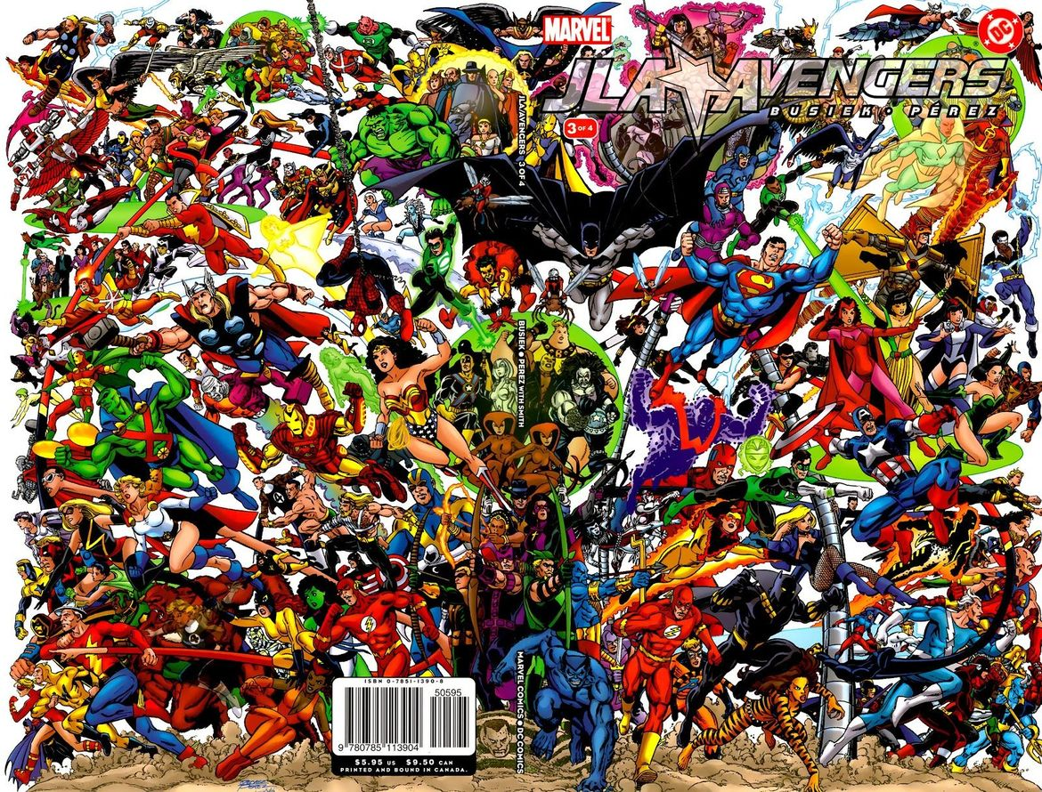 JLA/Avengers #3 (Written by Kurt Busiek, Art by George Perez)