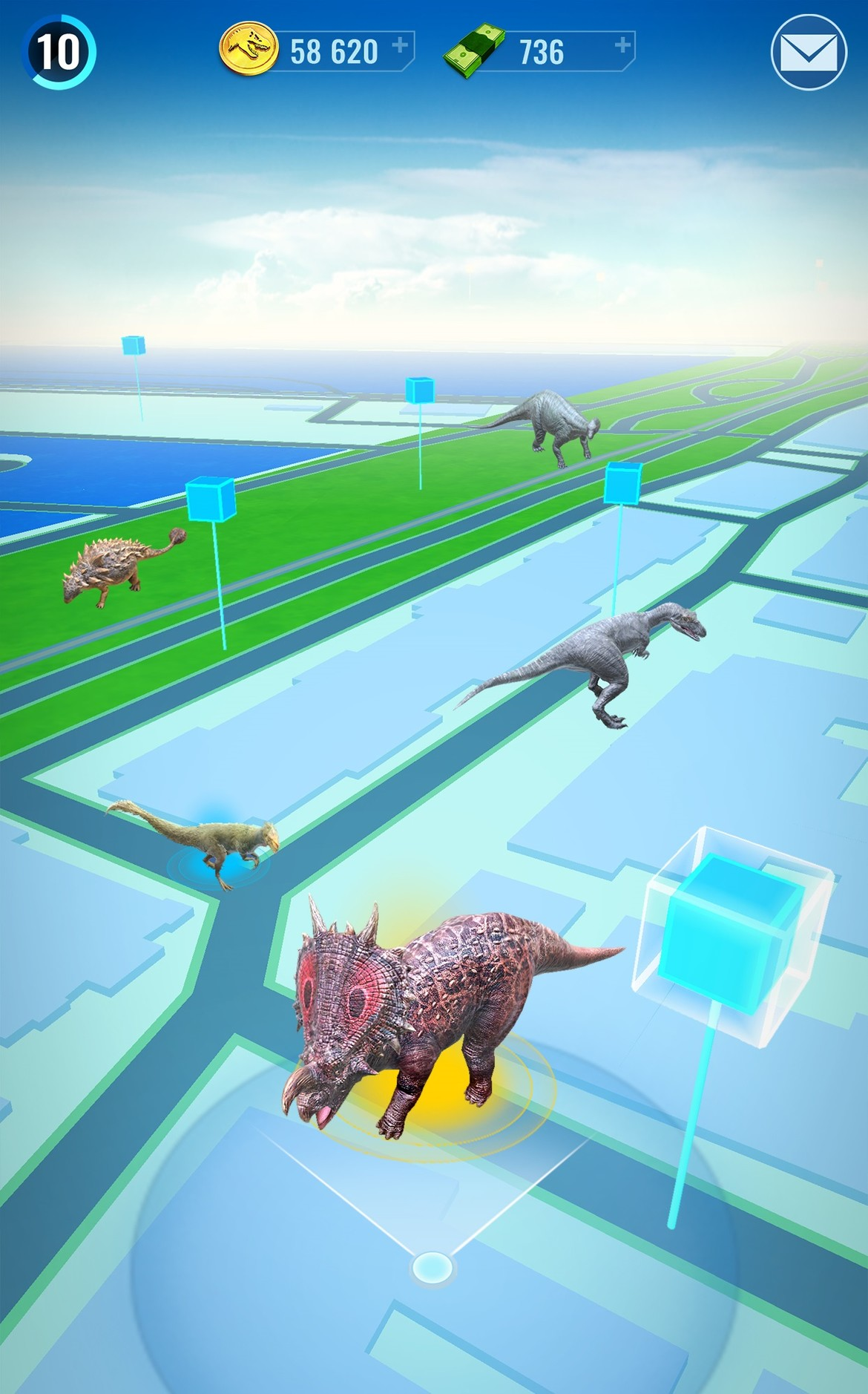 jurassic world alive game play