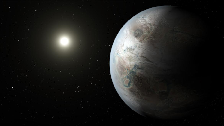 artwork of earth-like exoplanet