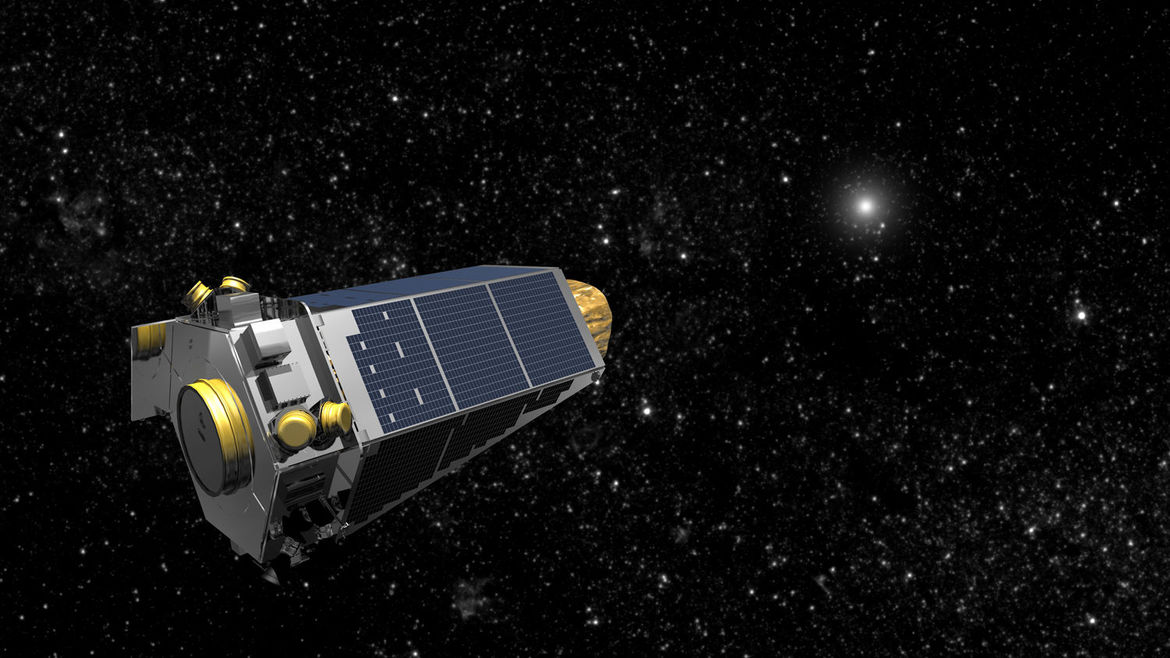 Artwork depicting the Kepler spacecraft looking for exoplanets. Credit: NASA