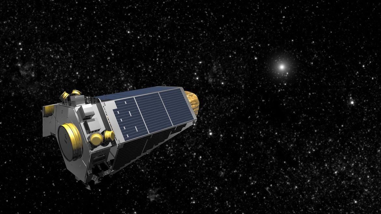 Artwork depicting the Kepler spacecraft looking for exoplanets. Credit: NASA
