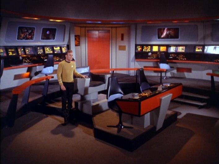 Kirk alone on the bridge TOS Star Trek