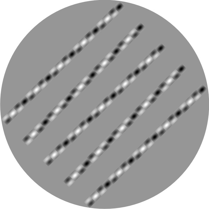 These lines are parallel! Hold a straight edge up to your monitor and prove it for yourself.