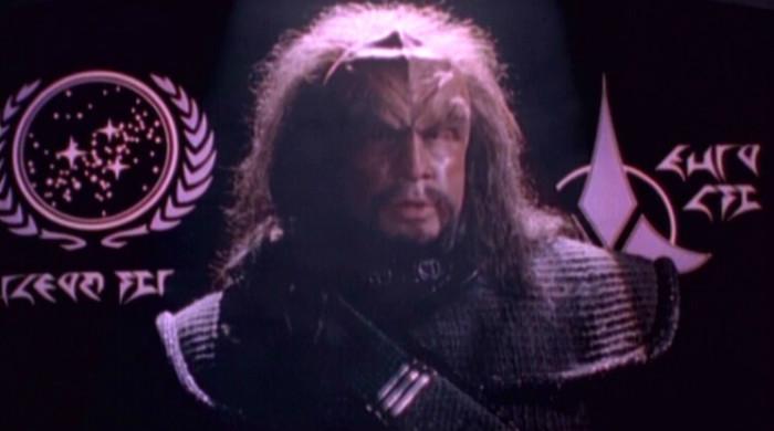 Klingon and Federation Emblems Together ST TNG