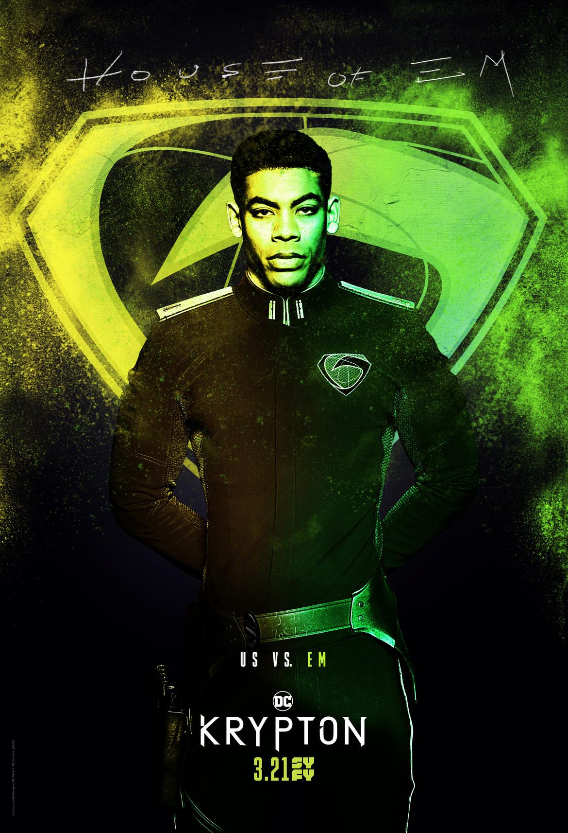 Krypton- Em Spraypaint poster