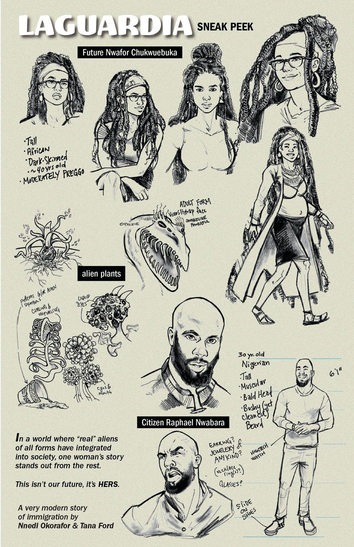 LaGuardia Character sketches