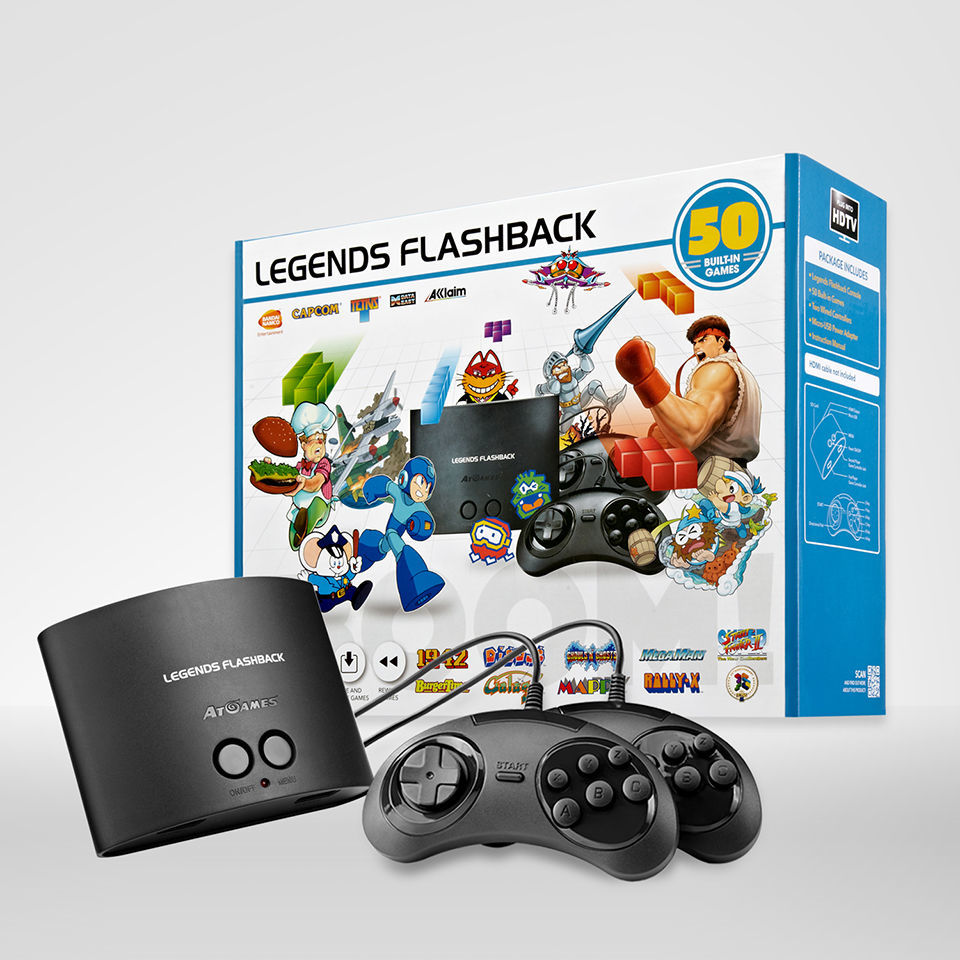 Legends Flashback 3D Box and Console