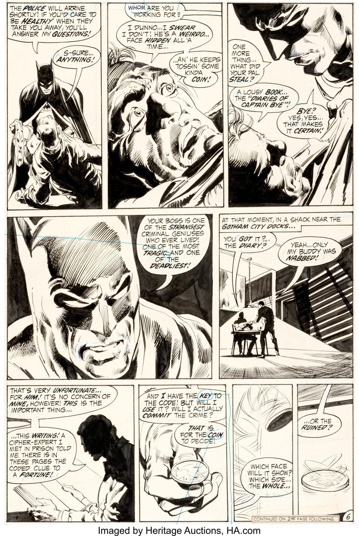 Neal Adams and Dick Giordano Batman #234 Page 6 Original Art (DC, 1971)