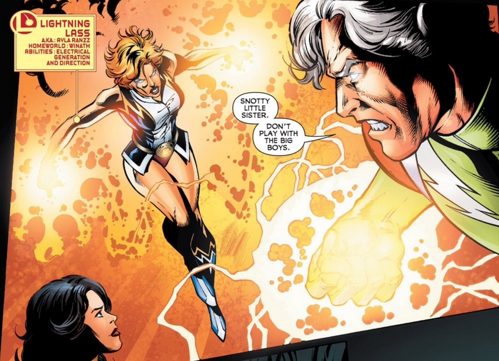 lightning lass dc comics panel