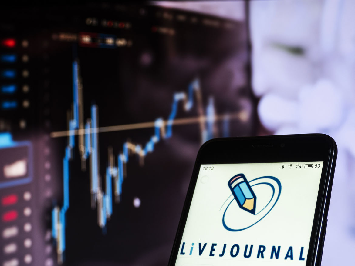 Livejournal social networking website seen displayed on a smart phone