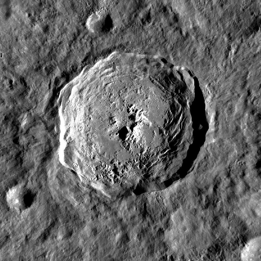 Jackson crater, an impact crater on the far side of the Moon. Credit: NASA/GSFC/Arizona State University