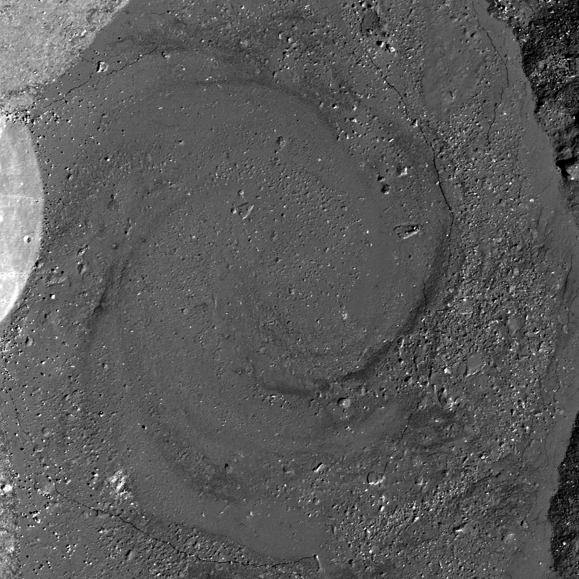 This is not a galaxy, but a spiral swirl of rock frozen in eternity on the Moon. Credit: NASA/GSFC/Arizona State University