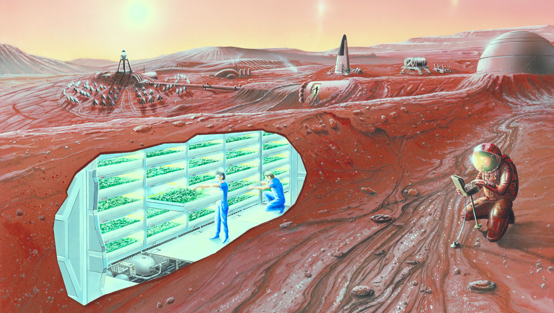 NASA image of a Martian colony